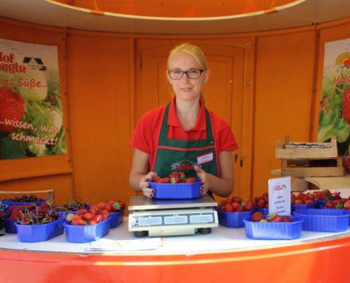 Erdbeerverkaufsstand
