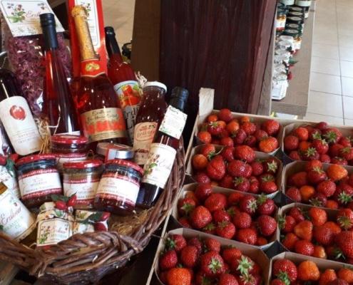 Präsentkorb von der Erdbeere